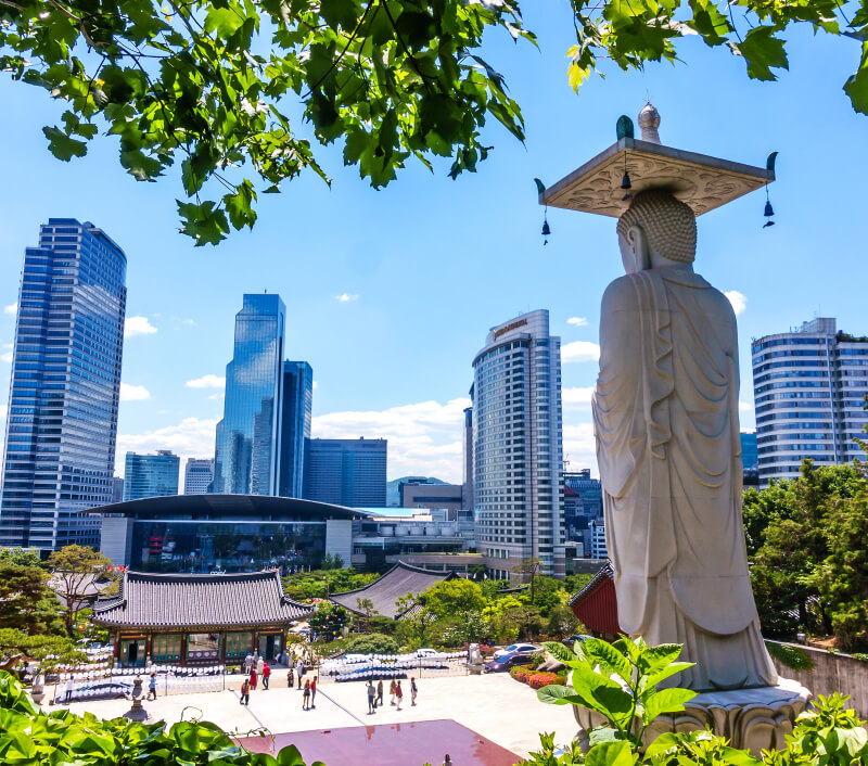 Bongeunsa Tempel in Seoul. Foto: Take Photo / Shutterstock.com