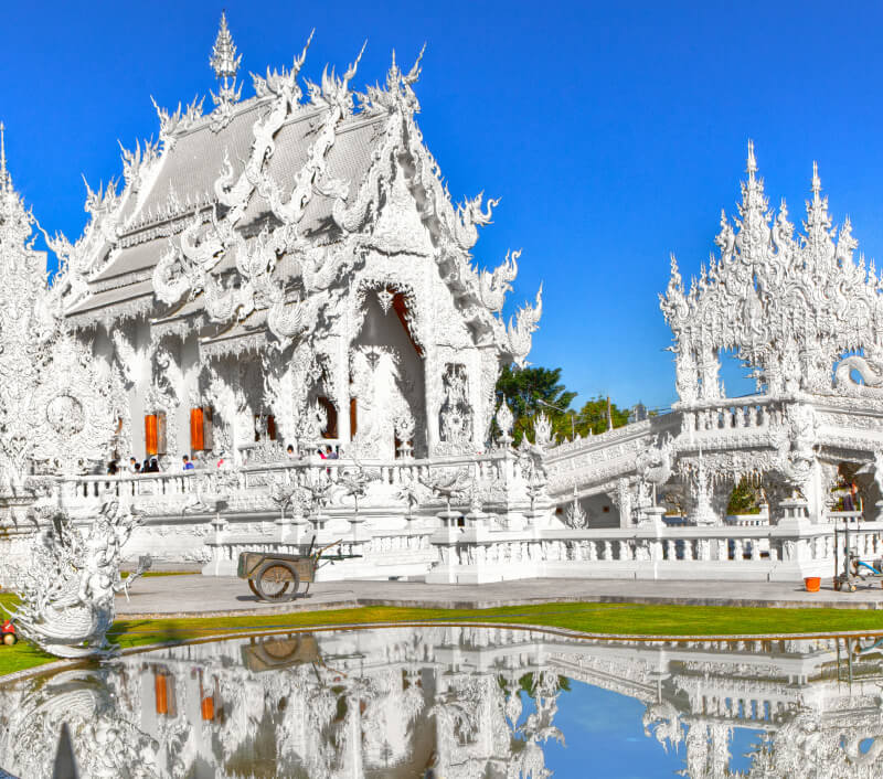 Wat Rong Khun in der thailändischen Provinz Chiang Rai. Foto: evantravels / Shutterstock.com