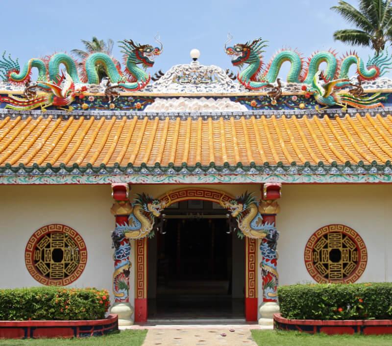 Chinesischer Hainan Tempel  in Nathon (Koh Samui). Foto: Dennis Albert Richardson / Shutterstock.com