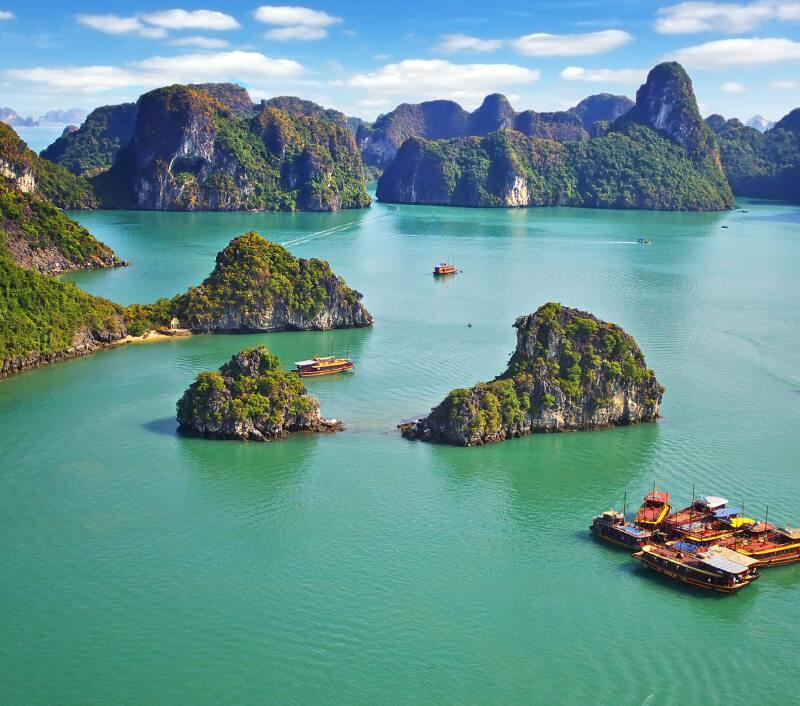 Halong-Bucht (Vịnh Hạ Long) in Nordvietnam. Foto: Igor Plotnikov / Shutterstock.com