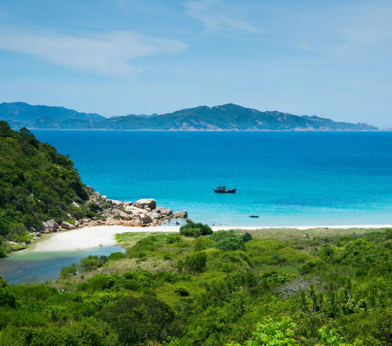 Die Provinz Ninh Thuận grenzt im Osten an das Südchinesische Meer. Foto: Jimmy Tran / Shutterstock.com