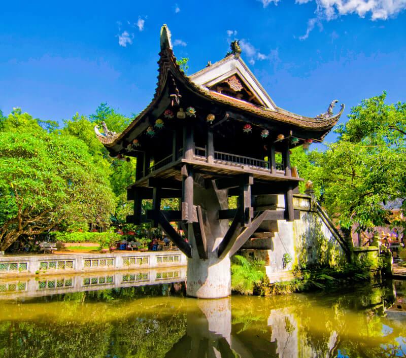 Einsäulenpagode (One Pillar Pagoda) in Hanoi (Vietnam). Foto: Jimmy Tran / Shutterstock.com