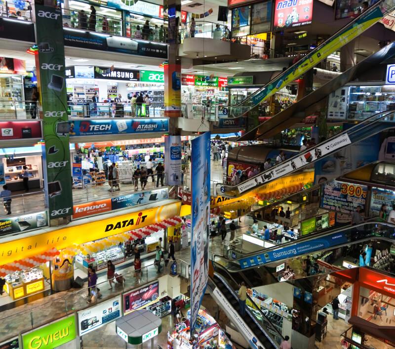 IT-Einkaufszentrum Pantip Plaza in Bangkok. Foto: travelview / Shutterstock.com