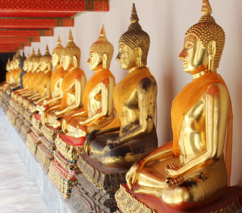 Der Tempel Wat Mahathat in Bangkok. Foto: Daniel Emmert