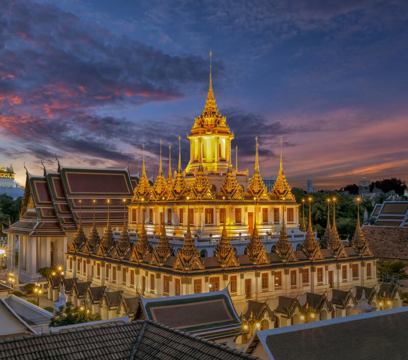 Wat Ratchanatdaram (Wat Ratchanatda) in Bangkok. Foto: Nok Nok / Shutterstock.com