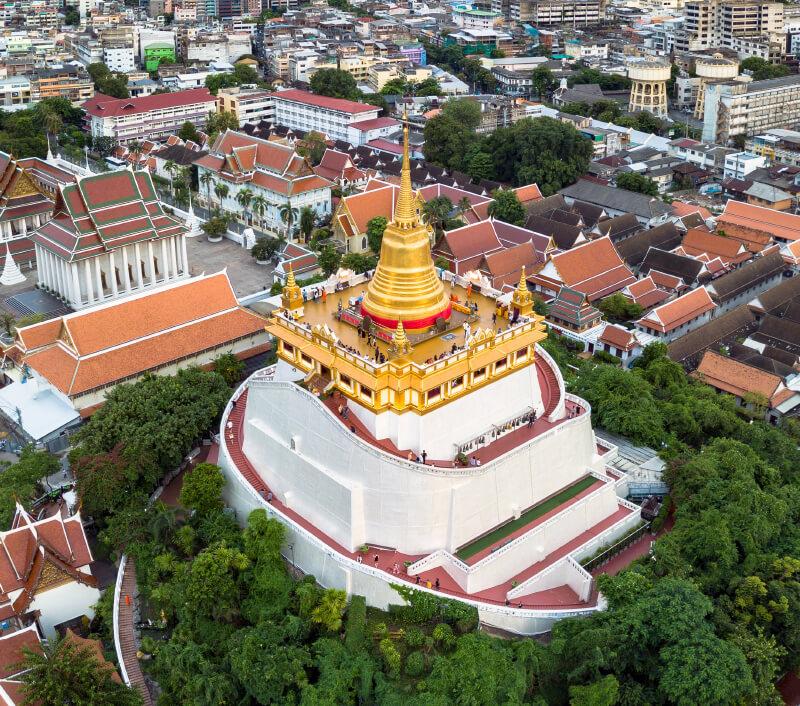 "F""Der Tempel des Goldenen Berges"", Wat Saket mit Phu Khao Thong. Foto: Sugrit Jiranarak / Shutterstock.com"