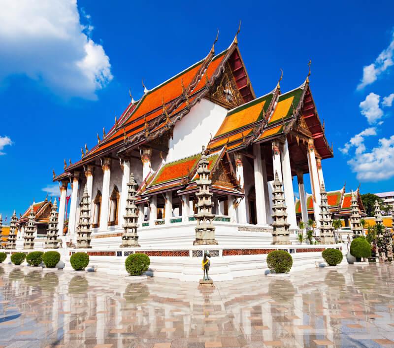 Wat Suthat Thepphawararam in Bangkok. Foto: saiko3p / Shutterstock.com